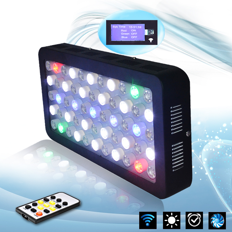 Aurora Timer Control 165w Dimmable Full Spectrum Aquarium Led Lighting For Home Coral Reef Tank