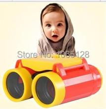 Mini juguete plástico , juguete prismáticos binoculares para niños telescopio 4x juguetes educativos ecológicos para los niños de regalo de año nuevo