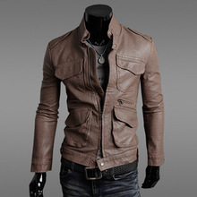 2015 Rushed Special Offer Mandarin Collar Acetate Zipper England Style Polyester Woven Slim Baseball Jacket Military