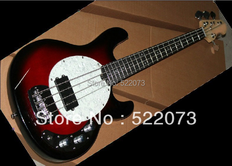 best Factory New selling Custom 5-String Bass Guitar Fire Burst new Arrival electric bass guitar(China (Mainland))