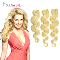 Blonde 60 Indian Body Wave 3pcs Lot Cheap Indian Virgin Hair Human Hair Extensions Other Colors