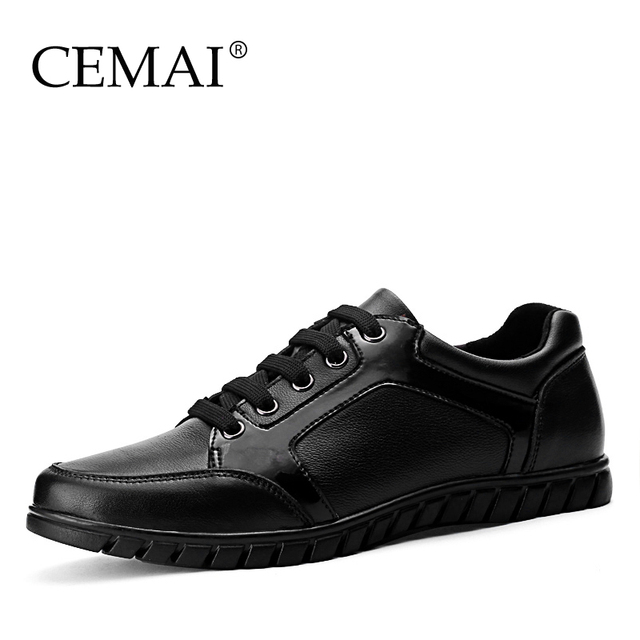 Г-н Мир Новая Мода Натуральная Кожа Мужчины Повседневная Обувь, удобная Мужская Кожаная ...