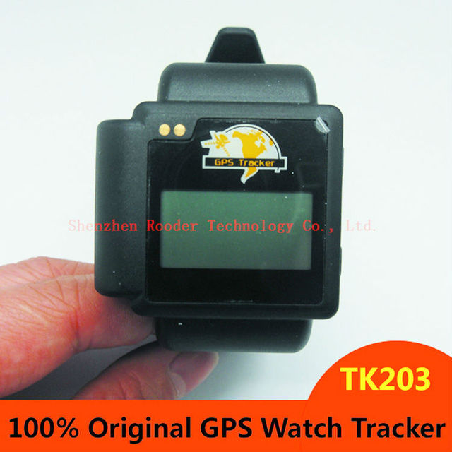 100% Original Personal GPS tracker Watches TK203 Wrist Tracker GSM/GPRS/GPS,4 Band with retail box
