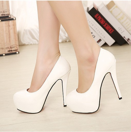 2015 spring fashion high heels shallow mouth platform round toe thin princess shoes women's - Love beauty foot store