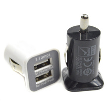 free shipping Dual USB Port 5V 3.1A Car Charger for iPad, Tablet PC all mobile phones(China (Mainland))