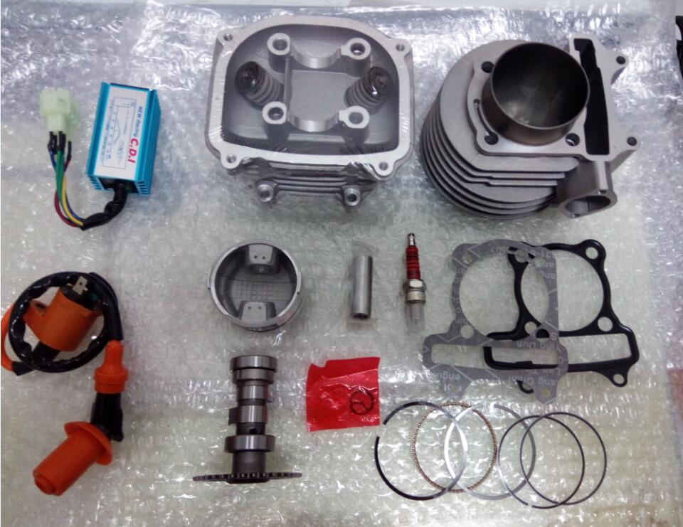 Cylinder and Head 63mm Alloy Big Bore Kit for font b GY6 b font 150cc Scooters