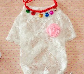 Exquisite lace dog clothes dog basic shirt pet clothes teddy clothes temptation