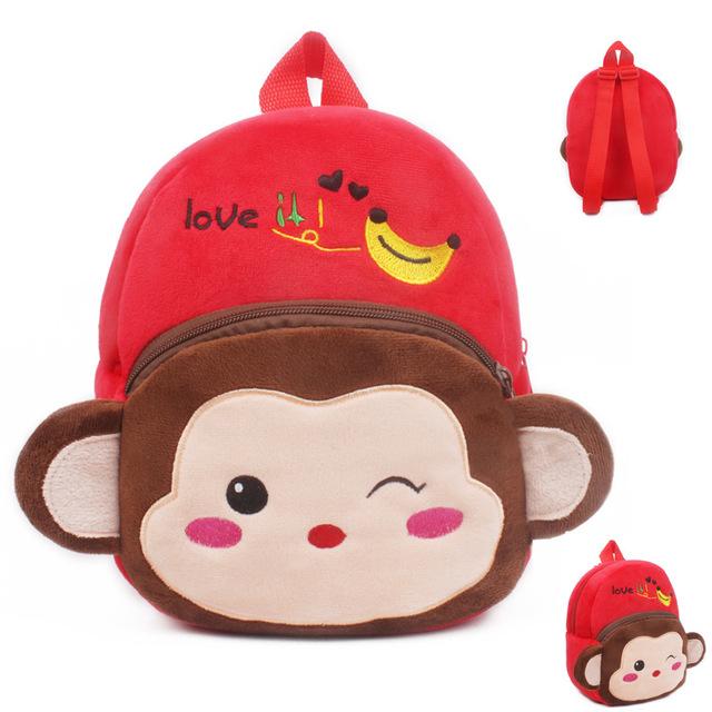 2016 высокое качество прекрасные обезьяна плюшевые мультфильм игрушки рюкзак девочка мальчик характер мешок подарок для детей Mochila Infantil горячая распродажа
