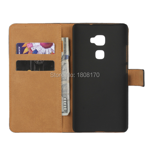 For Huawei Ascend Mate S Genuine Real True Wallet Leather Pouch Case ID Credit Card Slot Stand Fashion Hard skin cover 2015 New(China (Mainland))
