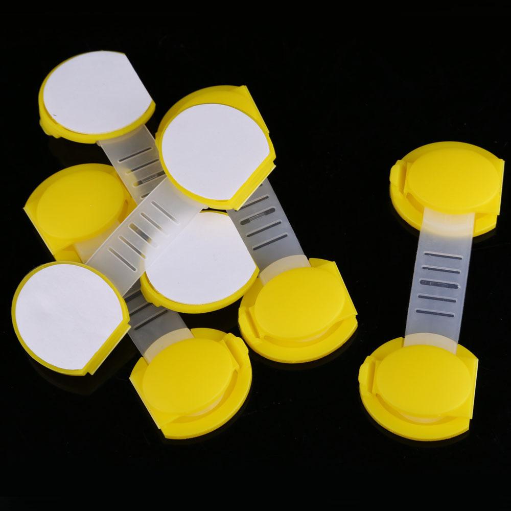 5 шт. комплект безопасный замок младенцы дети дети выдвижной ящик замок шкафа короткая стиль безопасный замок желтый hv5n