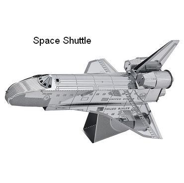 Space shuttle model 3D laser cutting puzzle DIY metalic airplane jigsaw free shipping birthday gift educational toys metal world(China (Mainland))