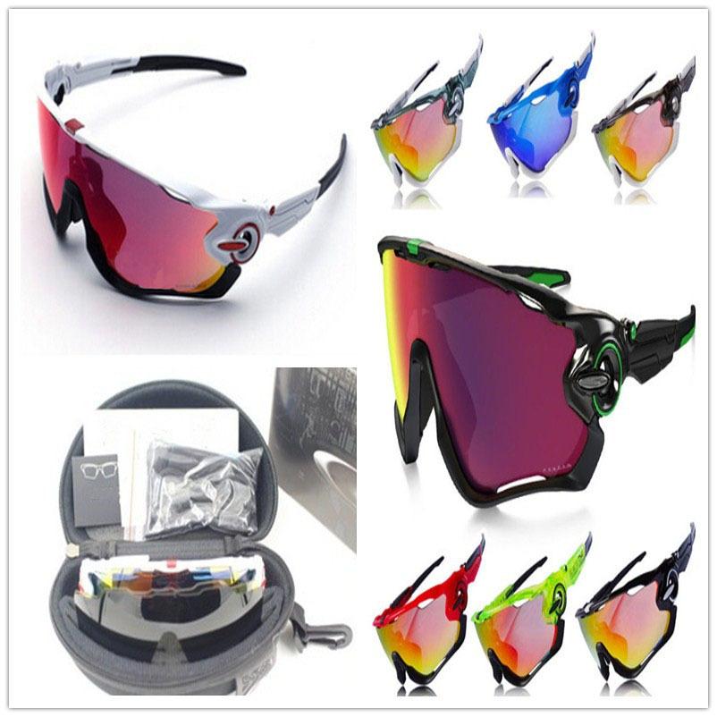 10 Colors In Stock 2015 Men Polarized Jawbreaker Sunglasses 3 Lens Cycling Glasses Sun lunette de soleil homme Sport Eyewear(China (Mainland))