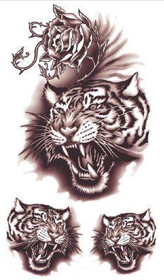 Temporary Tattoo Sticker Wittmann tiger tattoo for man Water Transfer Flash Tattoo fake tattoo Waterproof Body painting(China (Mainland))