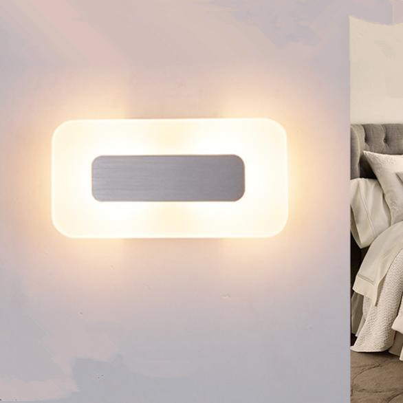 Led wall light modern brief bedside sconce lamp acrylic background lamps(China (Mainland))
