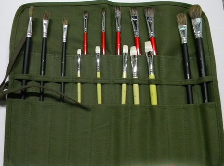 22 hole canvas paint brush bag Cases Artist Draw Pen watercolor oil brush art supplies