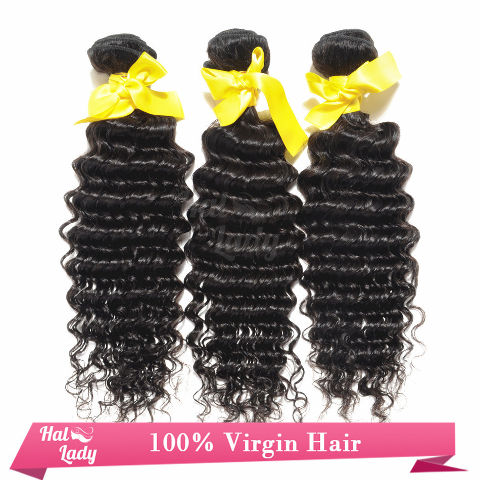 7A Free Shipping Remy Saga Hair Virgin Brazilian Deep Wave Hair Weave 3 Bundles A Lot 100% Unprocessed Sallys Hair Extensions(China (Mainland))