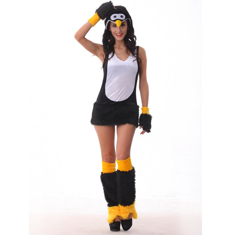 Penguin cartoon clothing foreign Halloween costumes dress uniform temptation Role play QQ head portrait Easter carnival Day(China (Mainland))