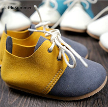 LittleSummer Genuine Leather mix color style baby shoes First Walkers Toddler baby moccasins Anti-slip Infant Lace-up Soft Shoes(China (Mainland))