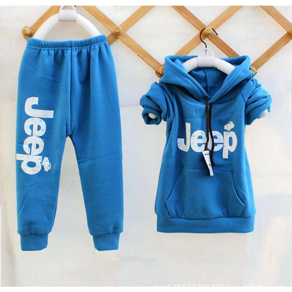 2014 Autumn/Winter Clothing Set Boys&Girls Thicken Sport Suit Children Hoodies+pants Kids Clothes Sets Y217 - SNOW LOVE store
