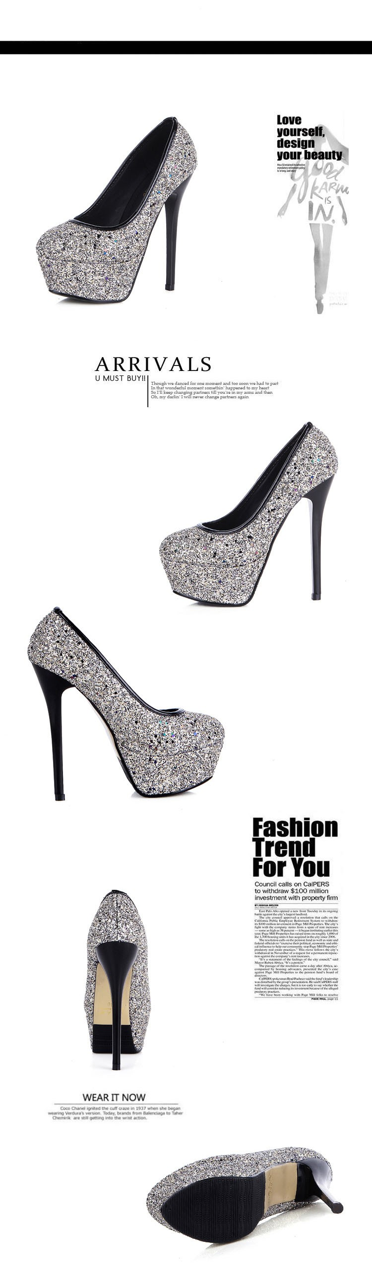 2015 New Arrival Fashion Sexy Platform Women Pumps Thin High-heeled Shoes Pointed Toe Sexy High Heels Female Shoes ZK2.5