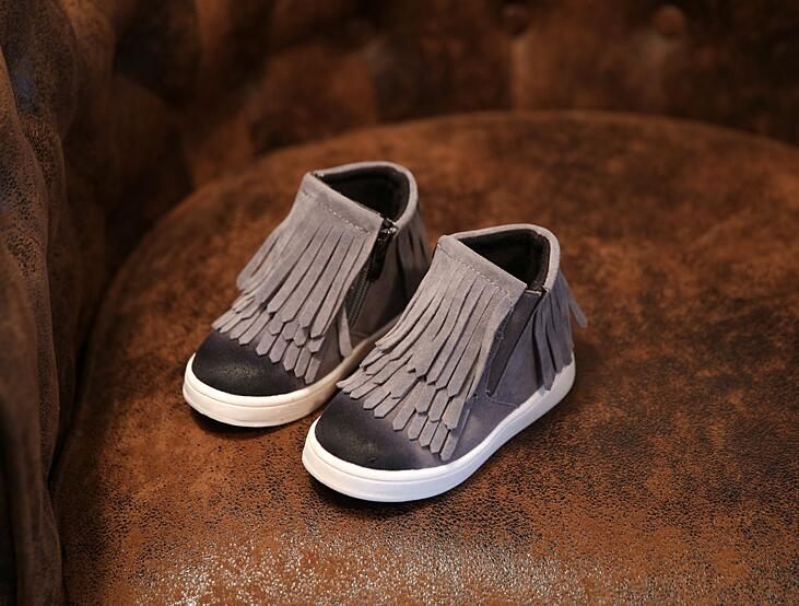 Hot Fringe Child Ankle Boots 2015 Autumn New British Genuine Leather Kids Boots High Quality Fahsion Shoes Boys,Girls Boots<br><br>Aliexpress