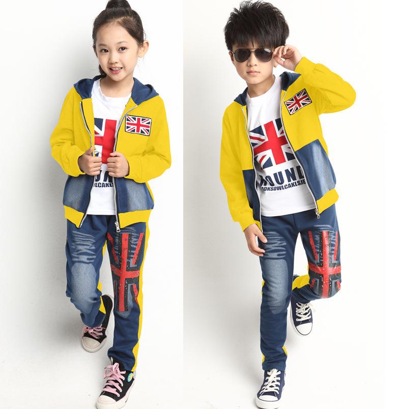 Buy Patchwork Girl Or Boy Set M Flag Print Fashion 2014 Korean Style Winter