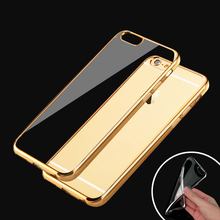 """Luxury Style Plating Gilded TPU Silicone Phone Case Cover For Apple iPhone 6 6S 4.7"""" / Plus 5.5"""" / 5 5s 4"""" Soft Phone Case Cover(China (Mainland))"""