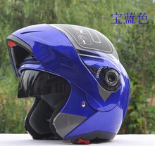 NEW best safe motorcycle helmets dual lens visors flip up motocross helmets  warm windproof sand dust proof Free shipping(China (Mainland))