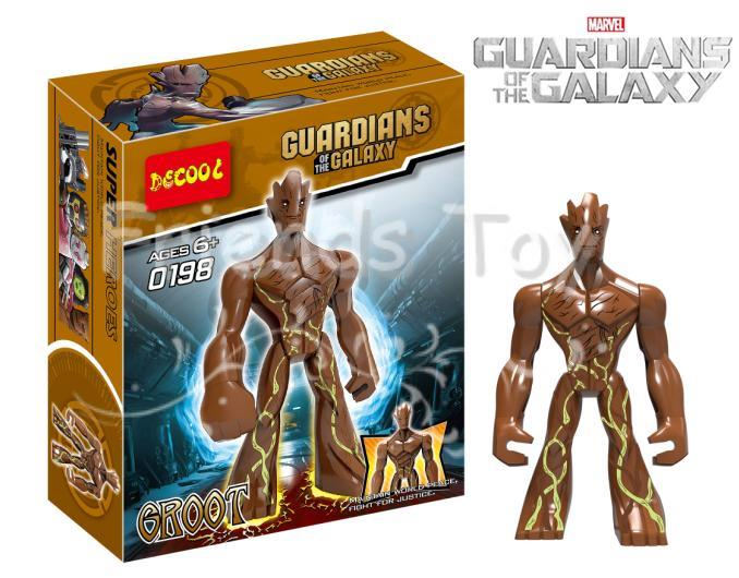 Groot 11cm Action Figure Marvel Super Hero Guardians Galaxy Decool 0198 Building Block Toy Compatible Lego