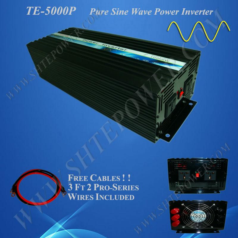 DC 12V/24V to AC 220V/230V Pure Sine Wave Power Inverter 5000W, 5kw Solar inverter(China (Mainland))