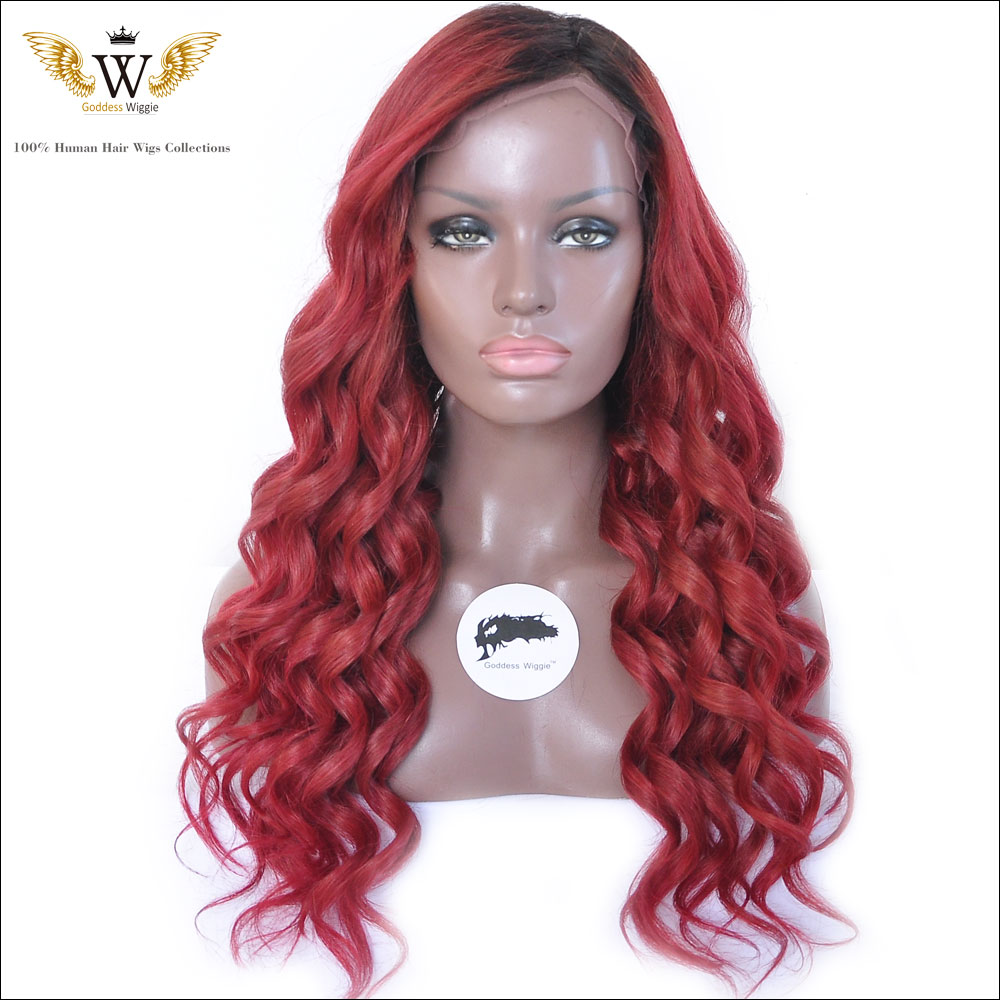 Short Curly Lace Front Wig for Black Women Glueless Natural Loose Body Wave BOB Synthetic Hair Wigs (16inch, 1B-off Black).