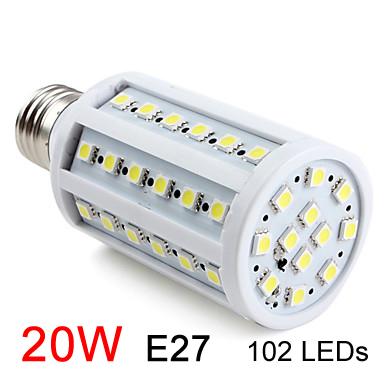 Free shipping high quality ultra bright led corn Bulb Lamp light 110V/220V 15W E27 SMD5050 Warm White/White Factory directsale#