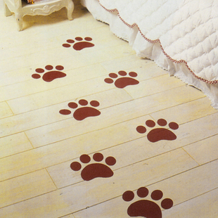 Real footmarks all over child cartoon wall stickers glass stickers floor