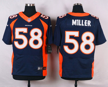 Stitiched,high quality,Denver Broncos Derek Wolfe DeMarcus Ware Von Miller for mens(China (Mainland))