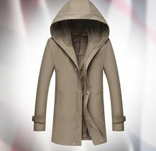 2016 The spring and autumn new men's windbreaker coat color in the thin slim long coat lapel British tide(China (Mainland))
