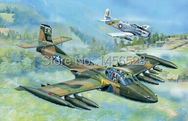 Free shipping NEW US A-37A Dragonfly Light Ground-Attack Aircraft Assembly Model kits Modle building Trumpeter scale(China (Mainland))