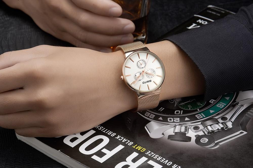 Простые Мужские Часы Из Нержавеющей Стали Серебро Золото Мужской Часы Ультратонкий Кварцевые часы Мужчина Студент Прохладный Спорт Наручные Часы Reloj Montre