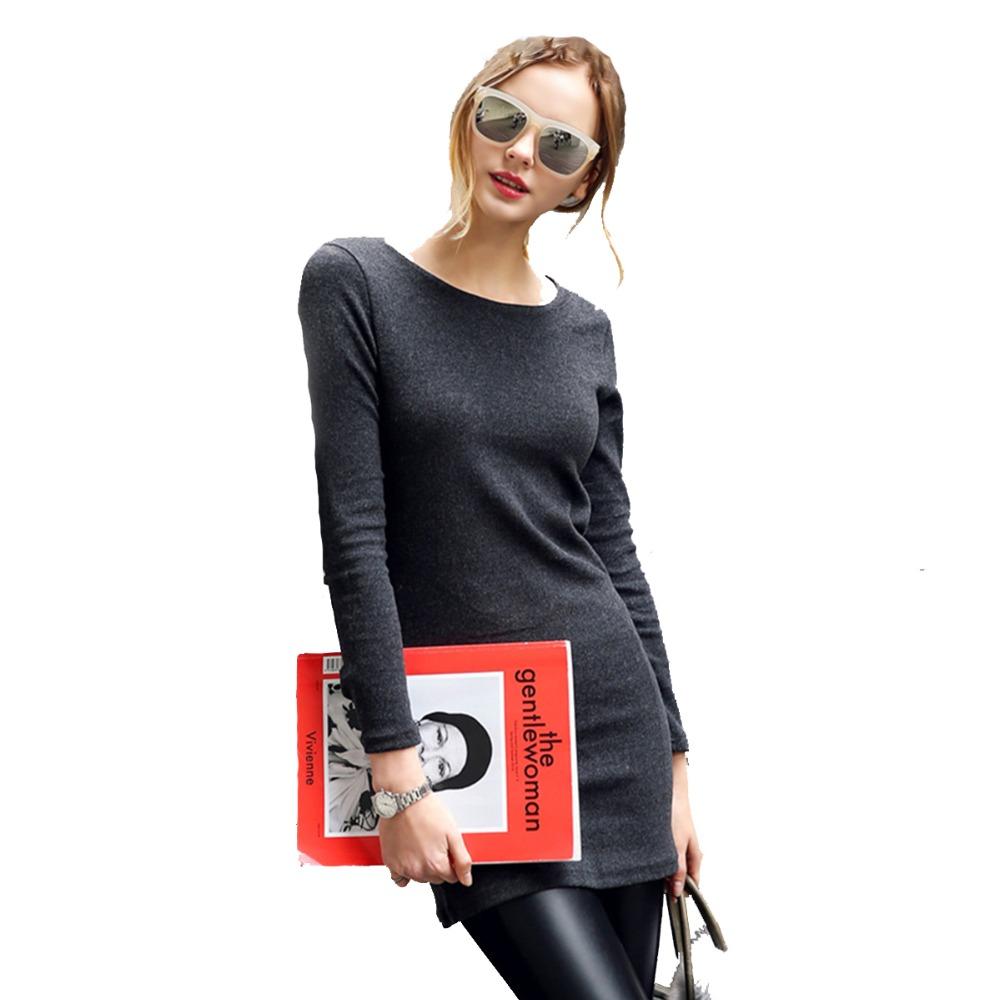 <font><b>Long</b></font> section <font><b>T</b></font>-<font><b>shirt</b></font> Women Tops Tees New 2016 Fashion Summer Cotton Black Casual <font><b>Long</b></font> <font><b>Sleeve</b></font> <font><b>Basic</b></font> <font><b>T</b></font> <font><b>shirt</b></font>