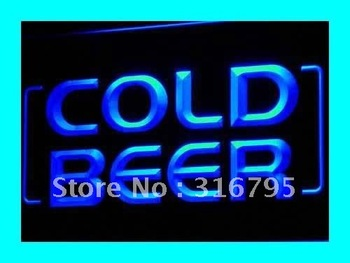 i348-b Cold Beer Bar Pub Club OPEN NEW LED Neon Light Sign