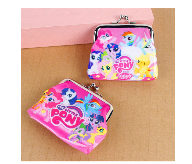 New cartoon my little pony Coin Purse kids wallet Girls Kids money bag Children Party Gift in stock(China (Mainland))