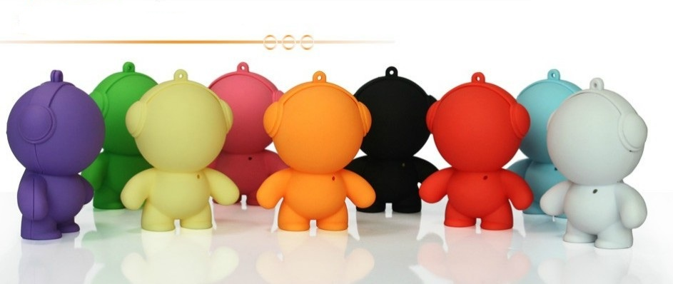 New Arrival Mini Speaker Monster Cartoon Speaker Portable Speaker SIMS Speaker Pure tone Personality products10pcs Free Shipping(China (Mainland))
