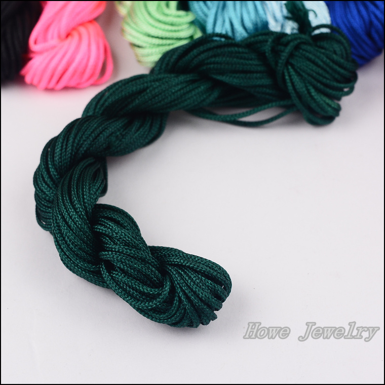 6 pcs DIY jewelry accessories line with 1.5mm braided wire (coarse)Dark green bundle of 13 meters bracelet braided rope necklace<br><br>Aliexpress
