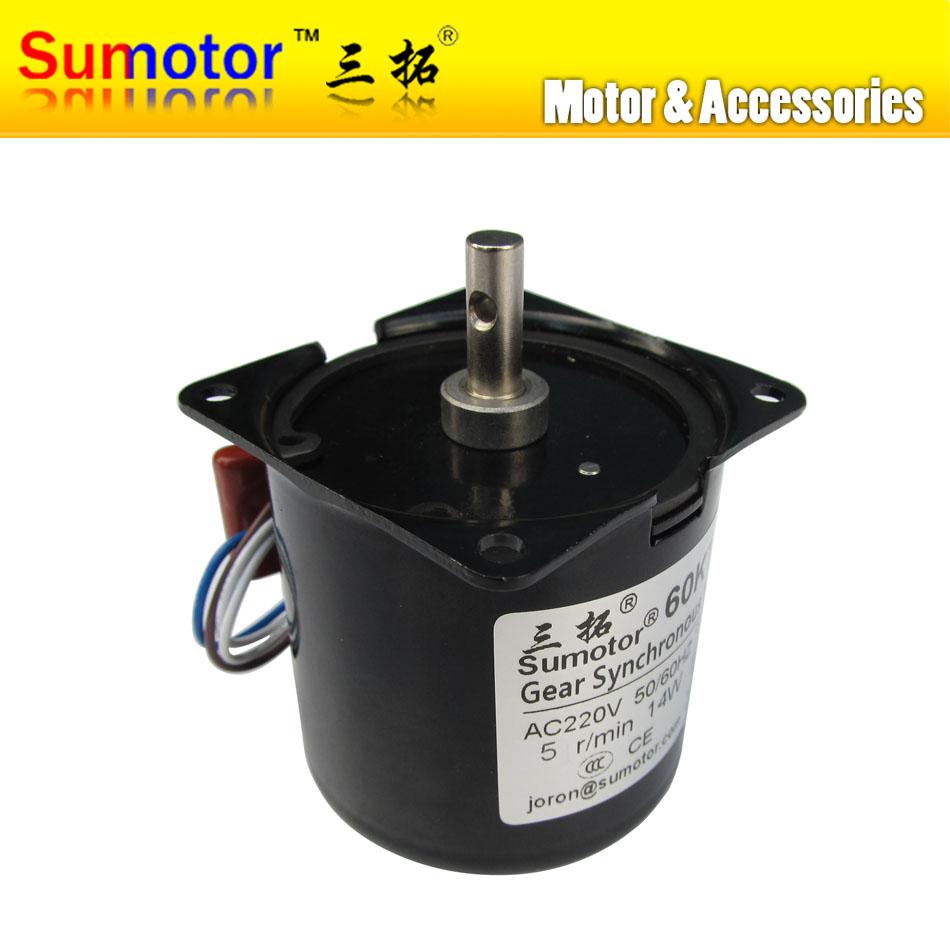 Двигатель переменного тока Sumotor 60KTYZ 5 rpm 14W 220 /240 50 60 CW/CCW AC 60KTYZ-5 60ktyz motor