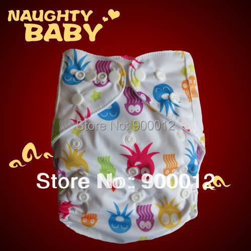 Free Shipping one size fit all baby snaps diapers, baby loves printing cloth diapers(China (Mainland))