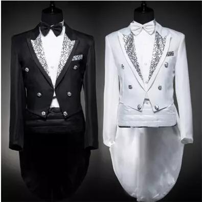 Jacket+Pant+ Girdle+bow White Tuxedo Mens Dress Suit Costume Marriage Wedding Suits  Men Costume Homme  white Black Tuxedo SuitsОдежда и ак�е��уары<br><br><br>Aliexpress