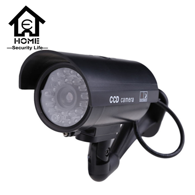Dummy Camera Fake Free Shipping Outdoor Indoor Weatherproof Fake Surveillance Camera CCTV Security Camera Flashing Red LED Light(China (Mainland))