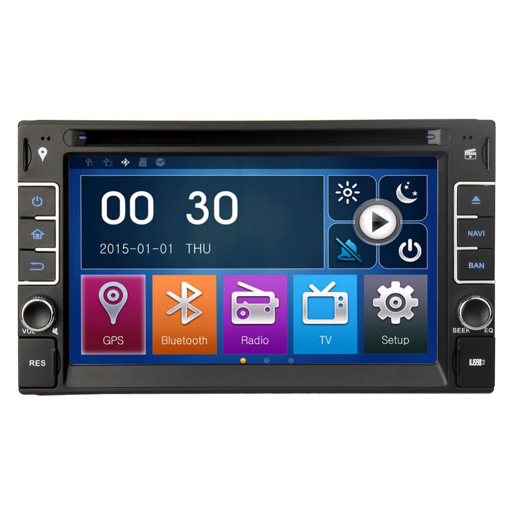 """2015 Car Dvd Gps 2DIN 6.2"""" Lastest Dual Core Wince 6.0 Touch Screen Dvd Player Car Stereo Radio Navigation Bluetooth Support 3G(China (Mainland))"""