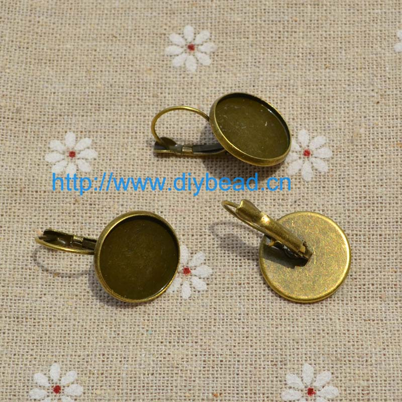20 pieces/lot DIY jewelry Findings,Retro Earring department,Antique Brozen Plated Ear Hook(China (Mainland))