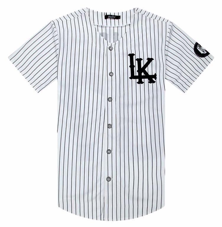2016 New 07 Last Kings baseball t shirt tyga jerseys black white unsex Men Women Hip Hop style tees Tops rap rock T-shirts Men(China (Mainland))