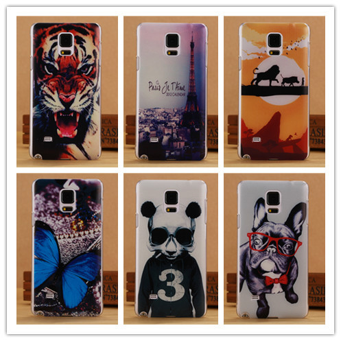 2015 New Printing Thin TPU Soft Case Samsung Galaxy Note 4 IV Phone Cover Back Cases PY - SGP Hybrid Official Store store
